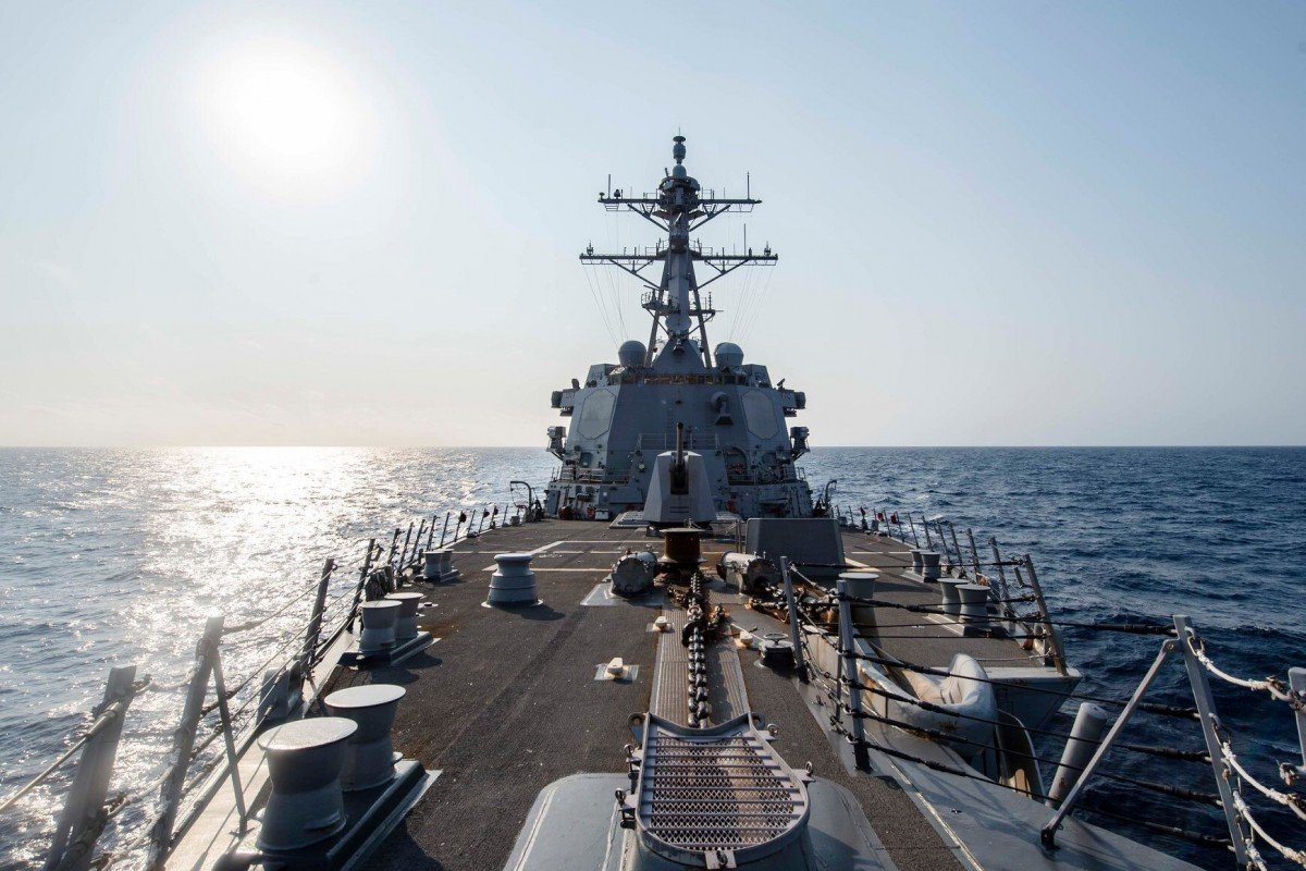 The guided-missile destroyer USS McCampbell made a transit through the Taiwan Strait, May 14, 2020